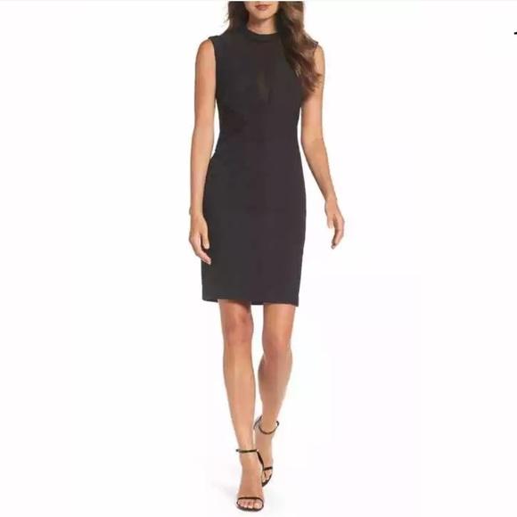 46c780ceedc3 NWT Bardot Croc Panel Dress Black 6 Small